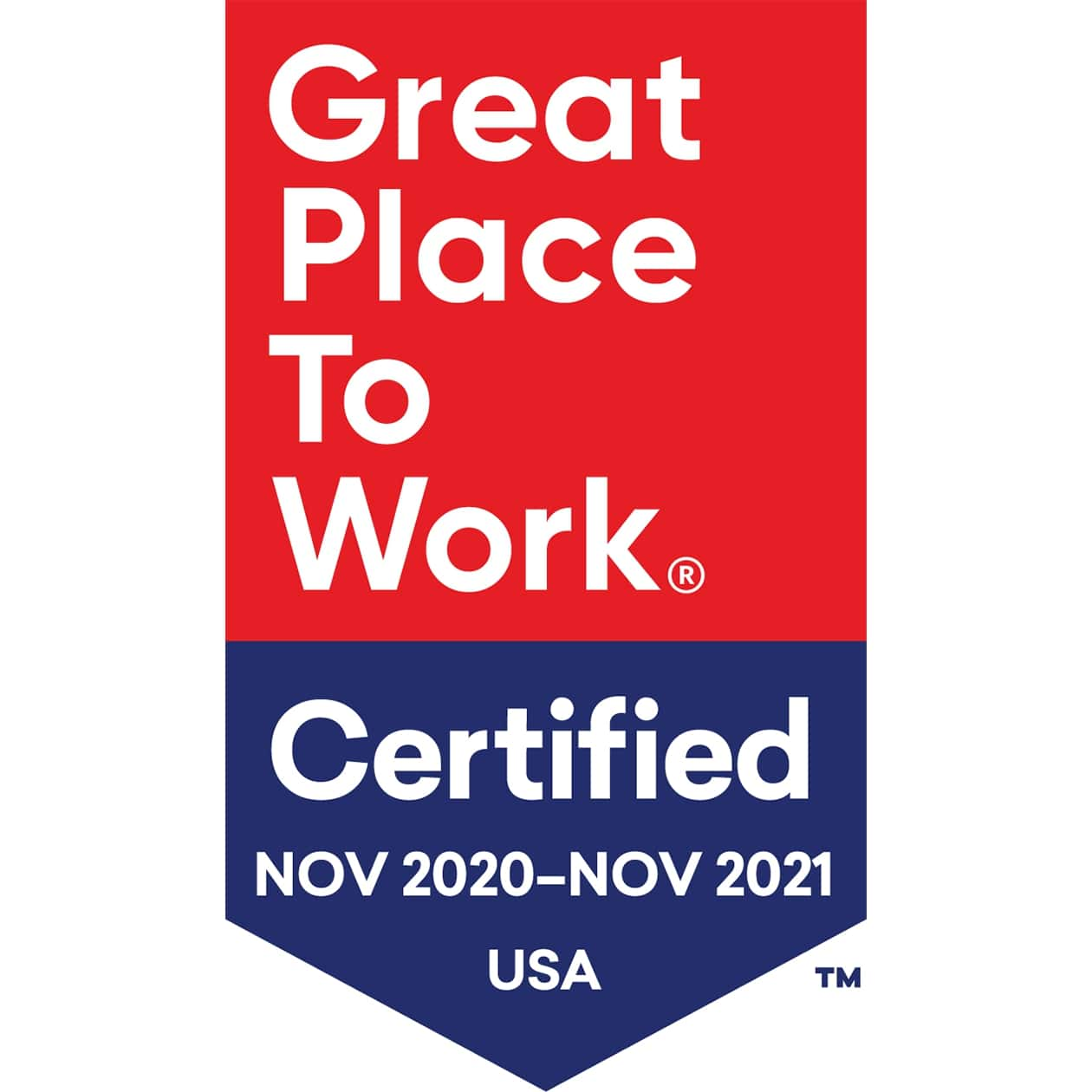 Certified Great Place to Work 2021